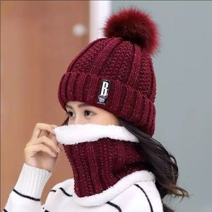 NIB Women / Girls Winter Warm Hat & Scarf Set